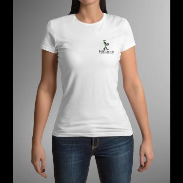 """T-shirt FITKURIER damski biały """"L"""""""