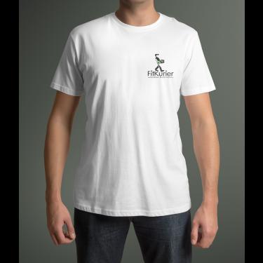 "T-shirt FITKURIER męski biały ""XL"""